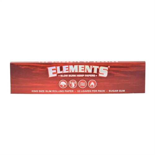 Elements Red King Size Slim Jointpapir
