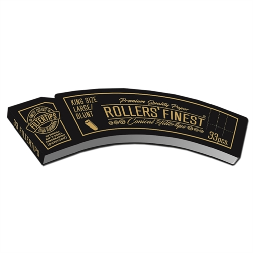 Rollers Finest King Size Large Blunt Black Filter Tips