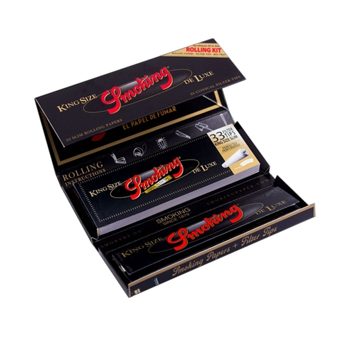 Smoking De Luxe Rolling Kit Jointpapir + Filtertips