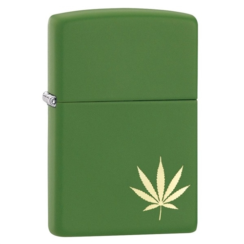 Zippo Lighter Classic Cannabis Leaf on the side